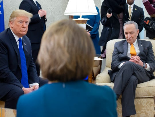 President Trump meets with Pelosi and U.S. Senate Minority