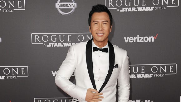 On the 'Rogue One' carpet, Donnie Yen told USA TODAY's