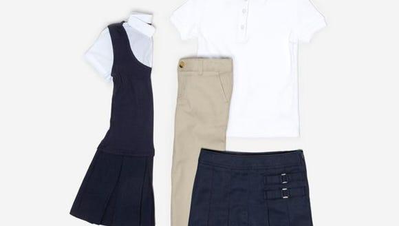 Kidbox's girl uniform set.