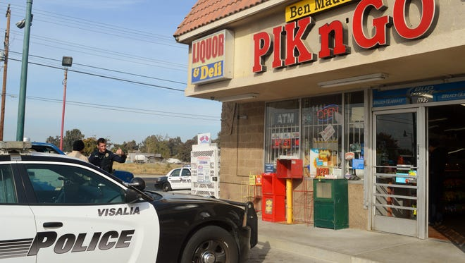 Visalia Police Department responded to an armed robbery at Ben Maddox Pik n Go in Visalia.