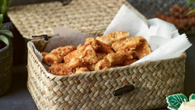 """This fried chicken-like jackfruit is from """"Vegan JapanEasy"""" by Tim Anderson."""
