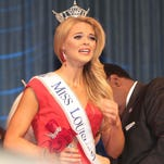 "The New Miss Louisiana April Nelson sings ""Climb Every Mountain"" on Friday night."