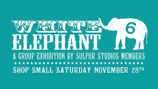 Online purchases for 'White Elephant VI' at Sulfur Studios can be shipped or picked up from noon to 5 p.m. Thursday through Sunday until Dec. 20.
