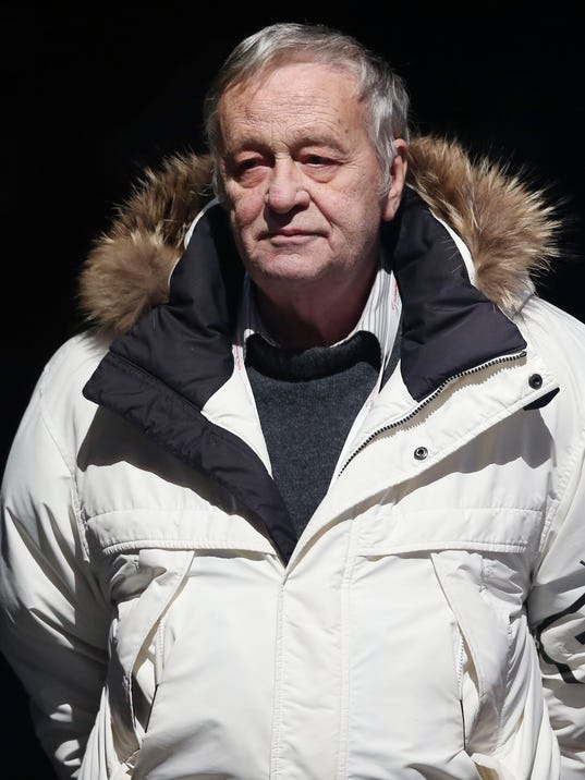 "FILE - The Feb. 6, 2013 file photo shows the President of the International Ski Federation Gian Franco Kasper watching a medal ceremony after the men's super-G, at the Alpine skiing world championships in Schladming, Austria. IOC board member Kasper apologized Thursday, March 16, 2017 for comparing a ban on Russia from the 2018 Olympics to persecution of Jews in Nazi Germany. ""It was an inappropriate and insensitive comment,"" Kasper, the long-time International Ski Federation president, said in a statement. (AP Photo/Luca Bruno, file)"