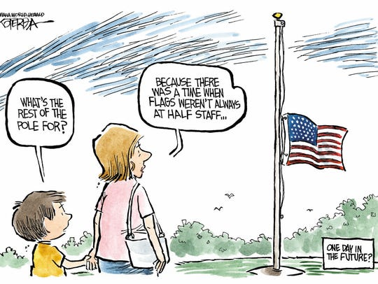 Orders to lower U.S. flags to half-staff have become more frequent.