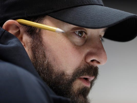 Detroit Lions head coach Matt Patricia speaks during a press conference at the NFL football scouting combine, Wednesday, Feb. 28, 2018, in Indianapolis. (AP Photo/Darron Cummings)