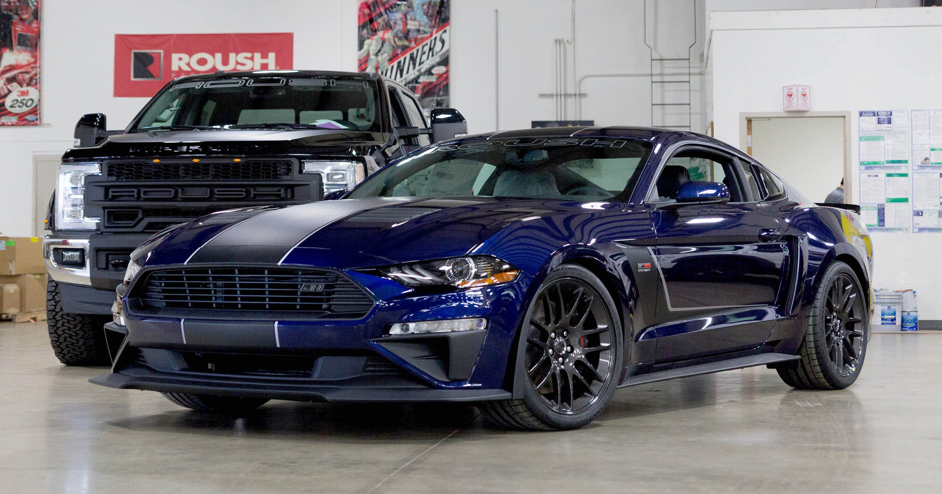 710 hp roush tuned jackhammer mustang hits the road