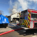 Fire breaks out at house on Portage Lake