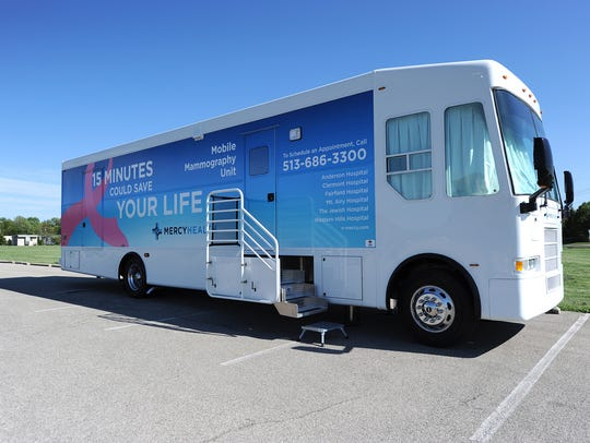 Mercy Health's mobile mammography units will be at