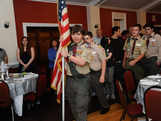 126702: 051714- TENAFLY: The senior scouts bring in