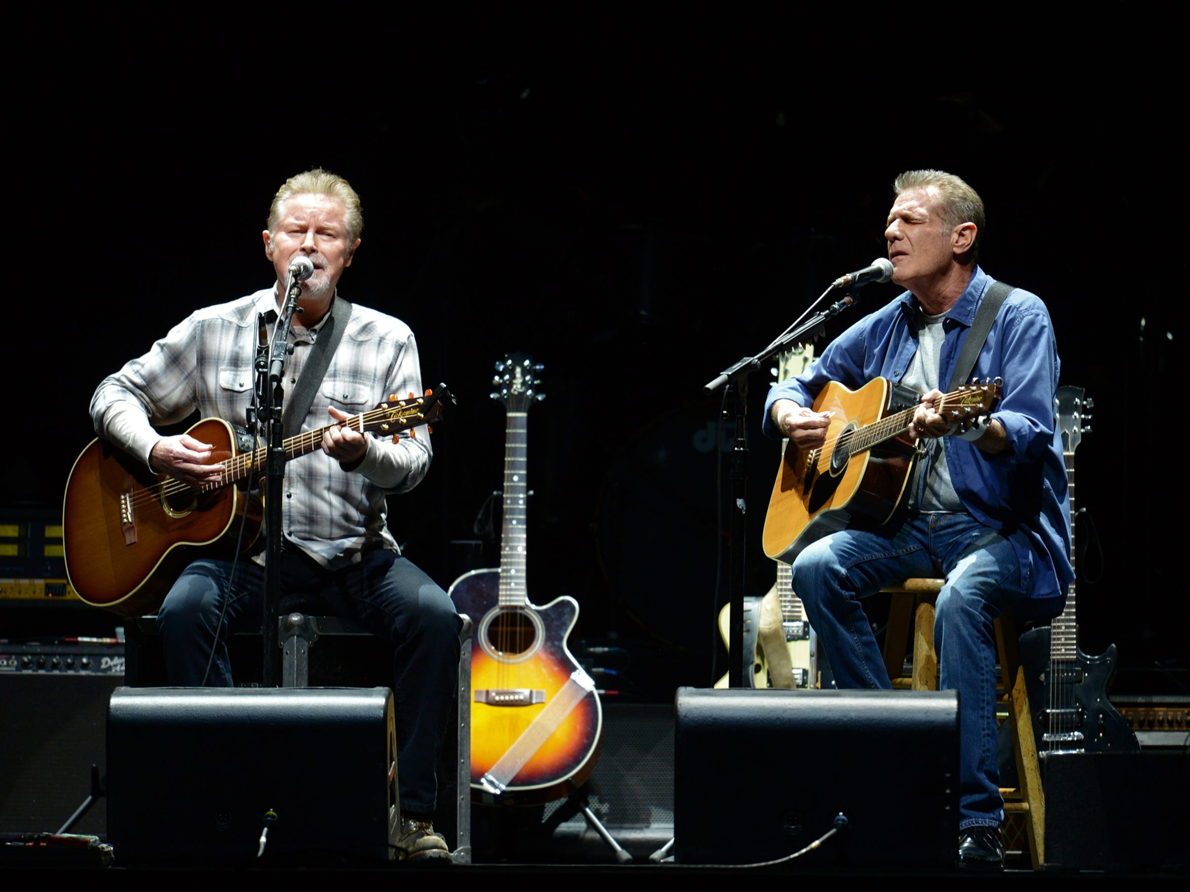 Don Henley, left, and Glenn Frey of the Eagles perform