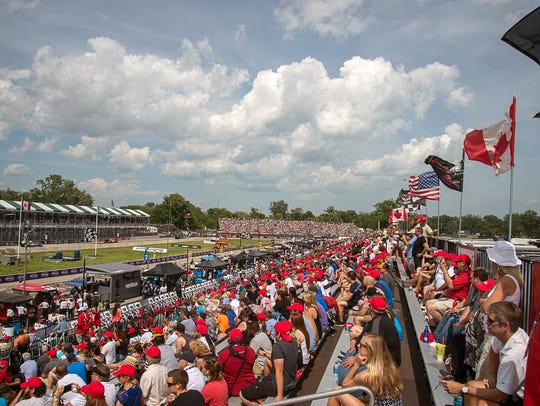 An expected 100,000 fans are expected on Belle Isle