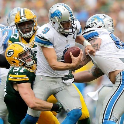 Green Bay Packers linebacker Kyler Fackrell sacks Detroit