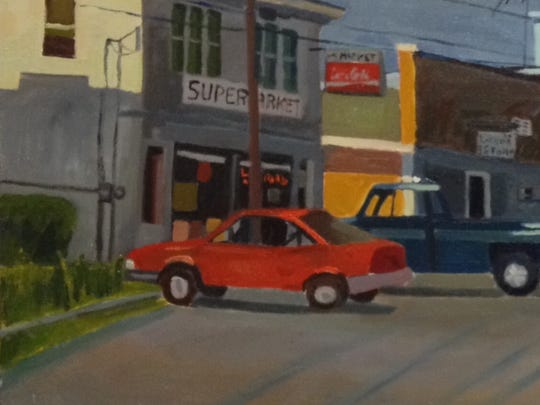 A painting of downtown North Troy, by Robert Klein.