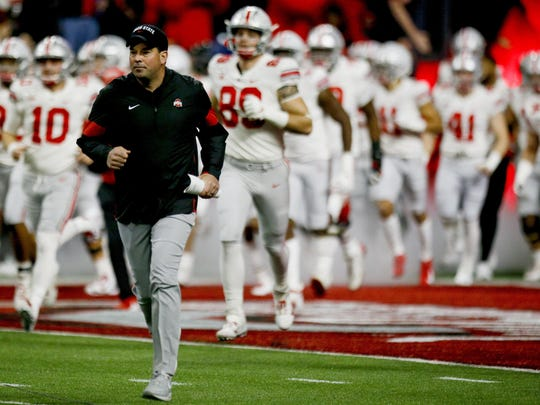 "Ohio State football coach Ryan Day received a three-year extension that keeps him under contract through 2026. ""That's a long time in college football,"" he said. [Joshua A. Bickel/Dispatch]"