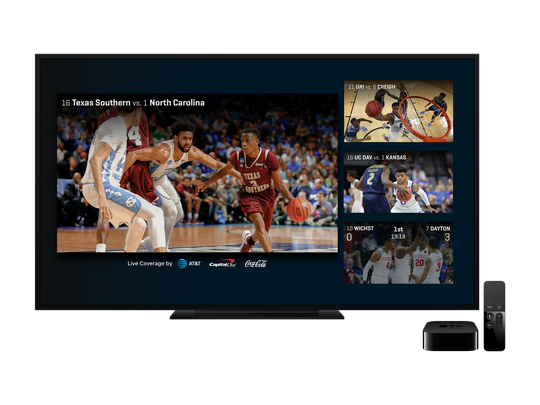 Using Apple TV, you can watch multiple games simultaneously