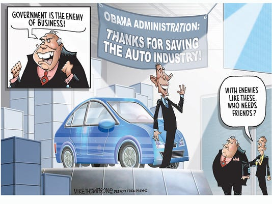 Obama at the auto show