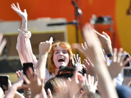 """Florence Welch of Florence + The Machine performs on ABC's """"Good Morning America"""" Summer Concert series in Central Park."""