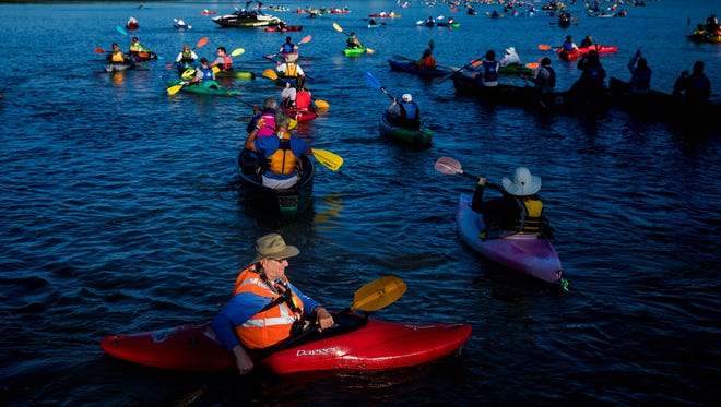 More than 2,000 people participate in the Ohio River Paddlefest each year.