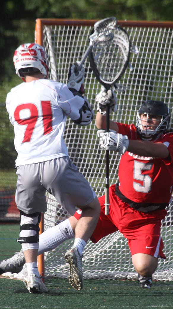 Tappan Zee's Matt McCleary sores past Somers goalie