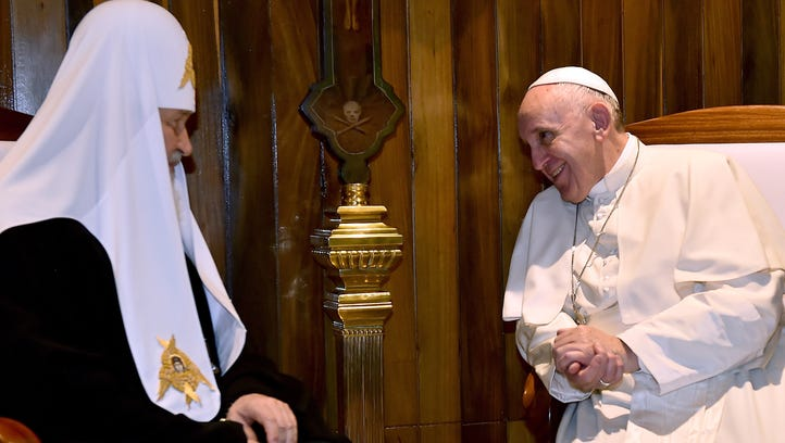 Pope Francis meets with the head of the Russian Orthodox