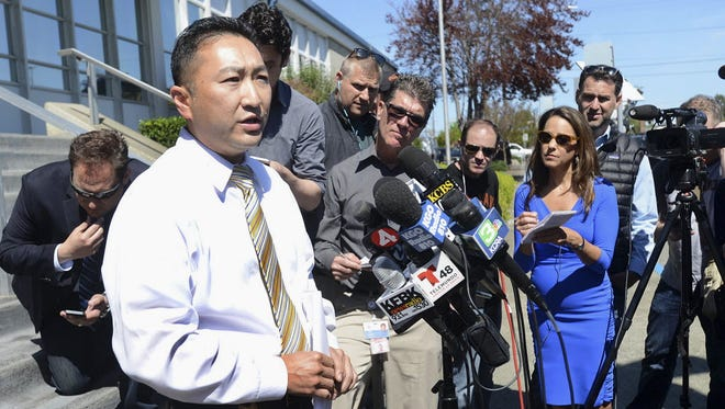 Vallejo Police Lt. Kenny Park speaks to reporters about the abduction and ransom of Denise Huskins in Vallejo, Calif., Wednesday, March 25, 2015.