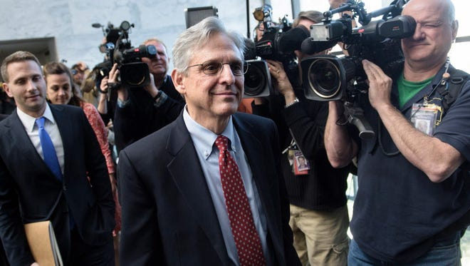 Supreme Court nominee Merrick Garland on Capitol Hill in March.