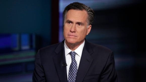 Mitt Romney is interviewed on the Fox Business Network