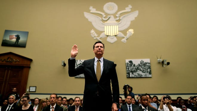 FBI Director James Comey testifies in Congress on July 7, 2016.