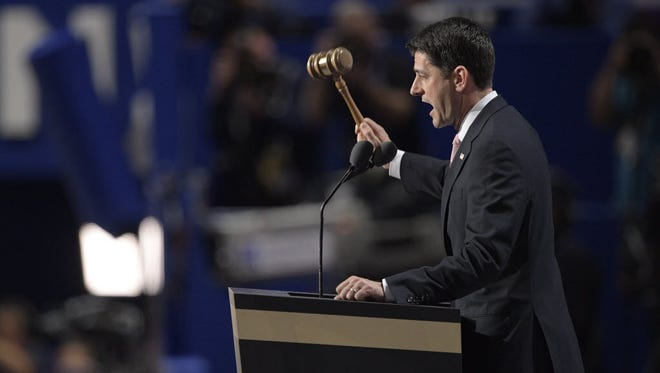 House Speaker Paul Ryan, shown here at the 2016 Republican National Convention, took office n 1999.