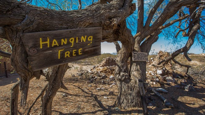 The Hanging Tree is where legend has it 18 miners met their maker after stealing gold.