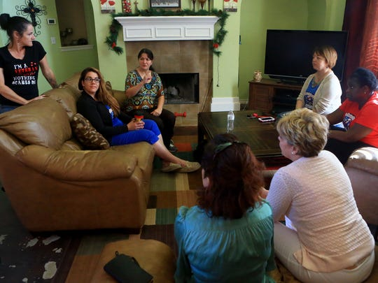Members of Women Veterans of the Coastal Bend talk about being a female veteran in the Coastal Bend on Thursday, April 27, 2017, in Corpus Christi.