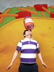 "David Torres-Fuentes in ""Dragons Love Tacos,"" running at Nashville Children's Theatre through May 13."