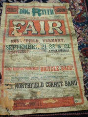 The Dog River Valley Fair poster as donated, before it was restored.