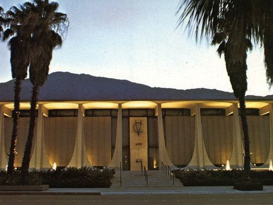 Coachella Valley Savings and Loan #2, now Chase Bank, designed by E. Stewart Williams.