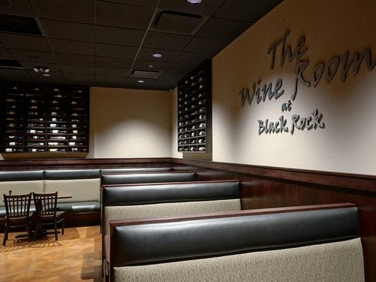 The Wine Room is a quieter area, with no TV screens.