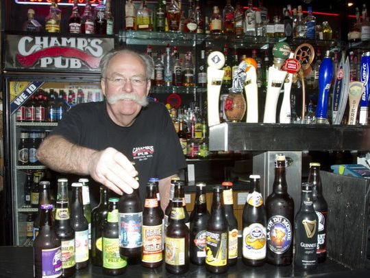 Dave Beauchamp, owner of Champ's Pub in downtown Brighton,