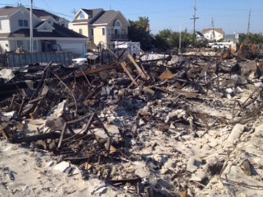 Twisted iron was all that remained of Carol Soreca's Brick home.