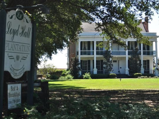 Historic Loyd Hall in Cheneyville is said to be haunted by the ghost of its original owner.
