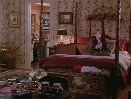Kevin McCallister inside the master bedroom.