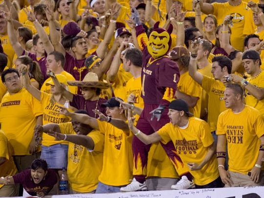 ASU fans are sassy in the stands.