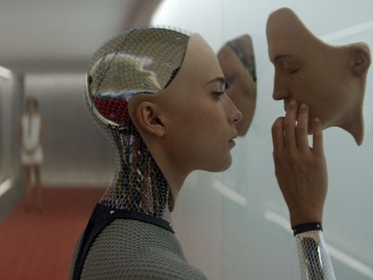 Alicia Vikander in a scene from 'Ex Machina'