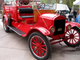 1923 Ford Model T fire truck: This original, restored Model T was purchased new by the New Hartford, Iowa fire department and was their first gas-powered fire truck.