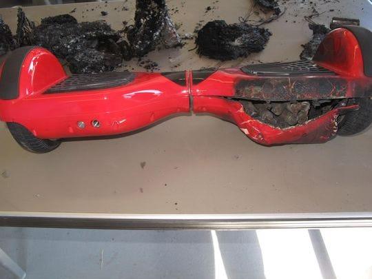 Damaged hoverboard recovered in Nashville.