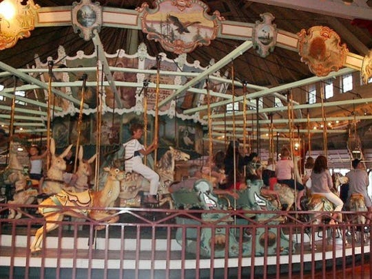 The historic Dentzel Carousel at Ontario Beach Park