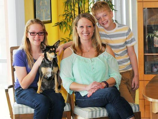 Sara Paulson and her kiddos.