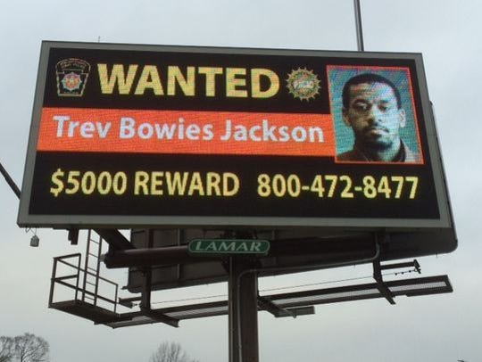 Billboards show Trev Bowies Jackson II's photo and