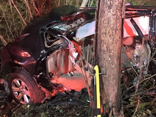 Police and fire crews tried searching for occupants of car that crashed in York Township.