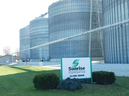 The Clyde, Ohio, elevator is just one of the Sunrise Cooperative's facilities in northern Ohio.