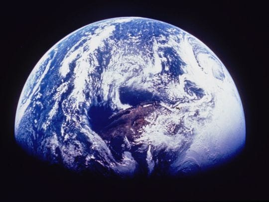 The earth as seen from space. Earth day is April 22.